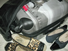 My version of packing- it begins with the shoes