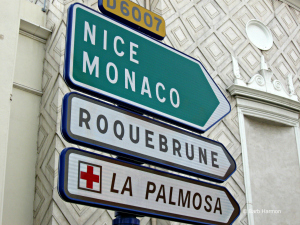 Signs in Menton, France