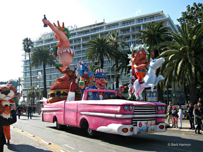 USA float in Nice, France