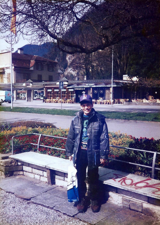 J.W in Interlaken, Switzerland