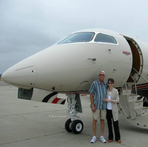 Hubby and I with DT jet