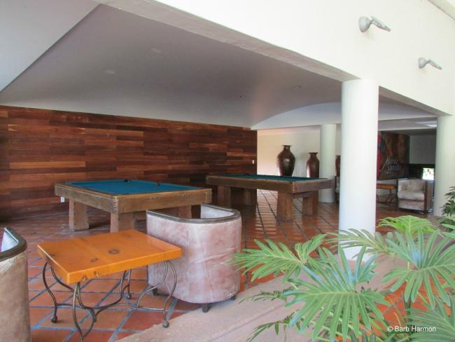 Pool tables at Real de Chapala hotel