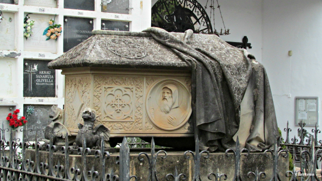 Shrouded tomb in Sitges Spain