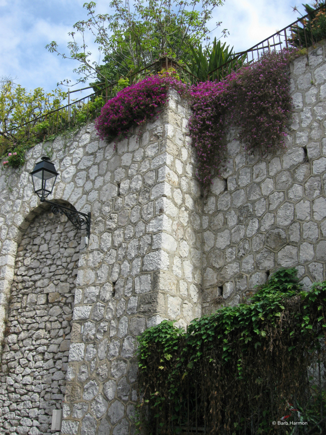 stone wall in Menton