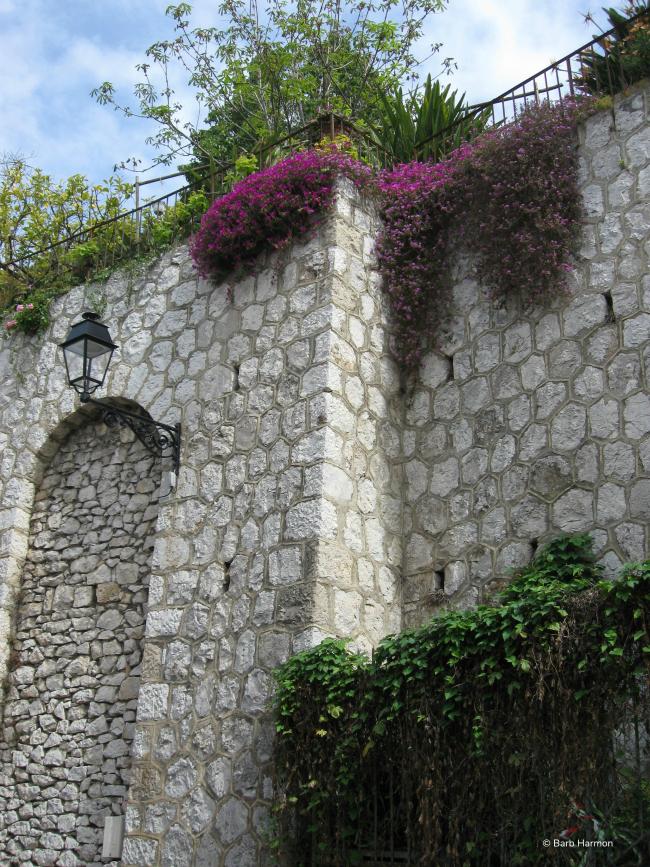 stone wall in Menton