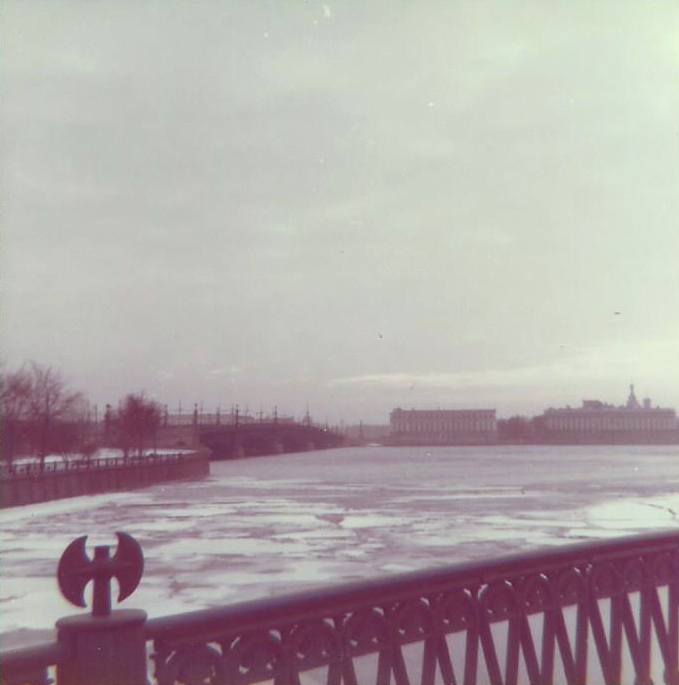Frozen Neva river