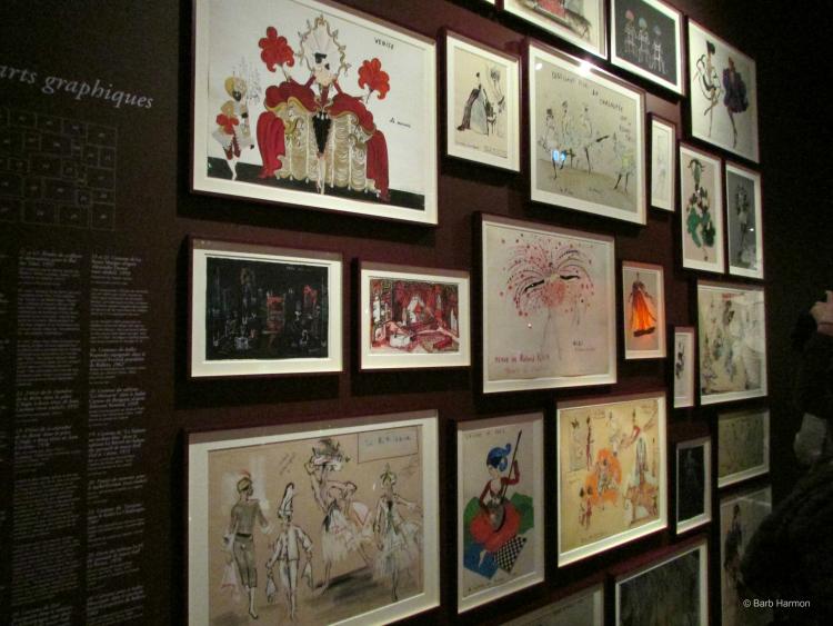 Yves Saint Laurent's drawings-Paris