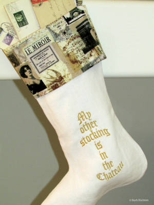My other stocking is in the Chateau- the ho ho ho is back