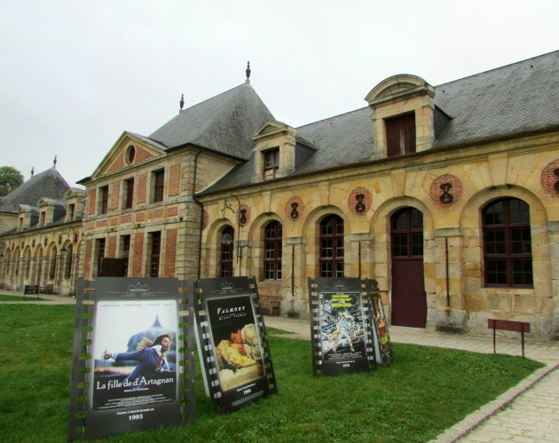 Outbuildings and stables with movie posters