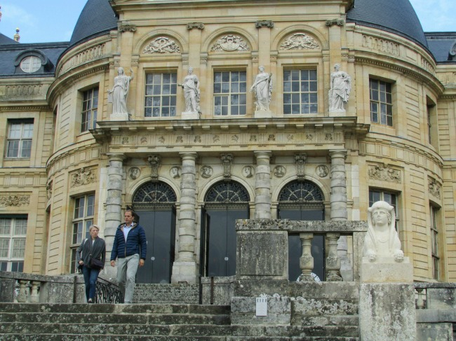 The South steps of Vaux
