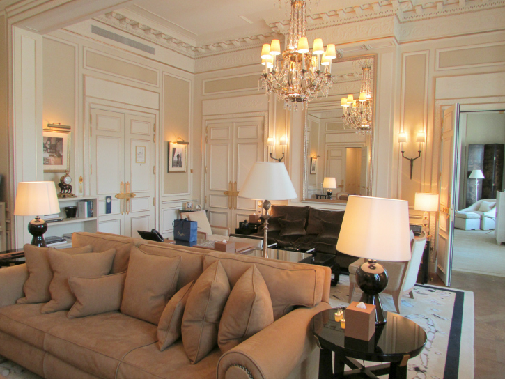 Living room in the Coco Chanel Suite- Ritz Paris